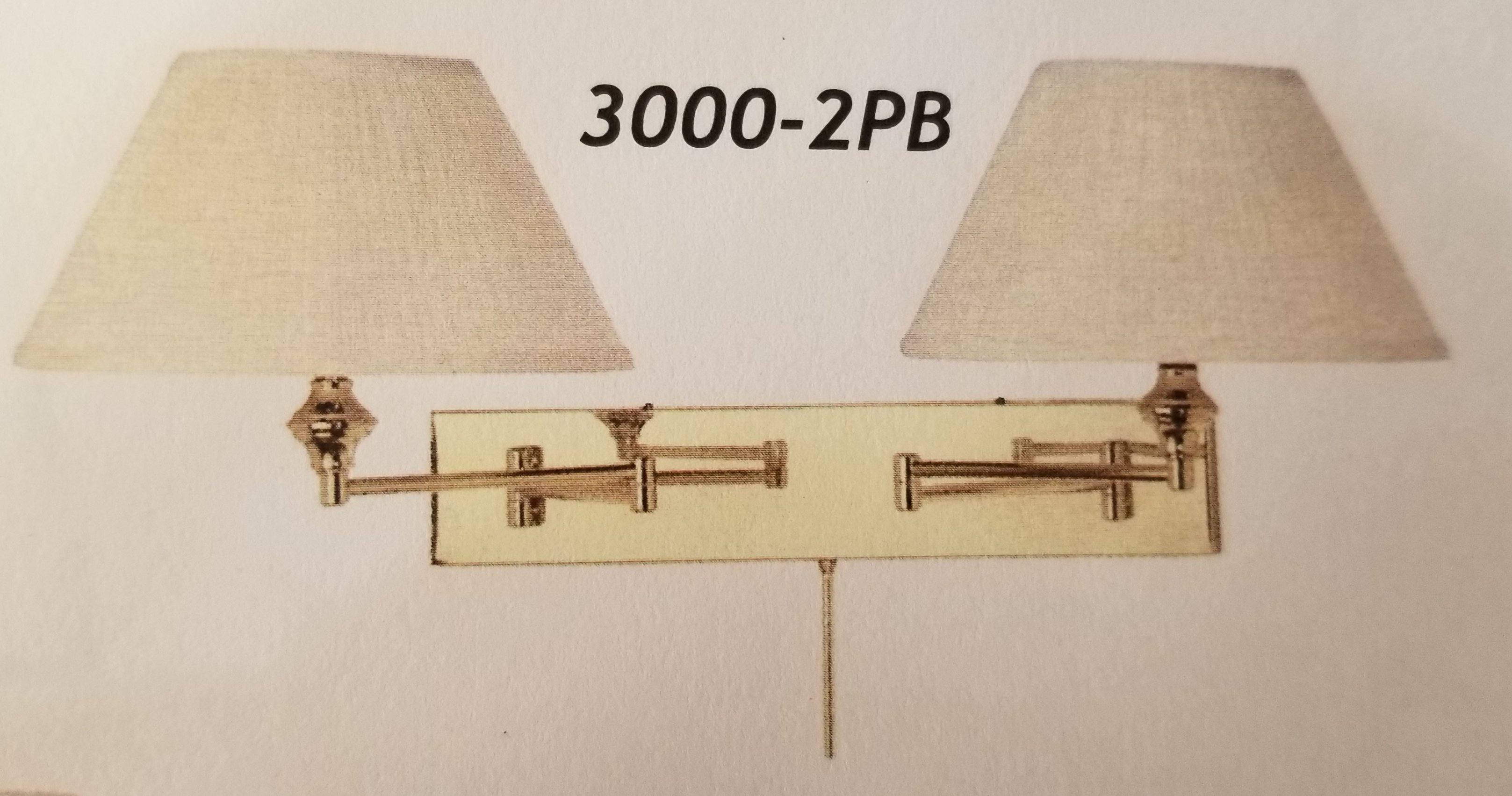3000-2 Swing Arm Wall Right Made in Canada Available in Antique Brass Brushed Chrome or Black Regular Price $312.99 Blowout Price $219.99