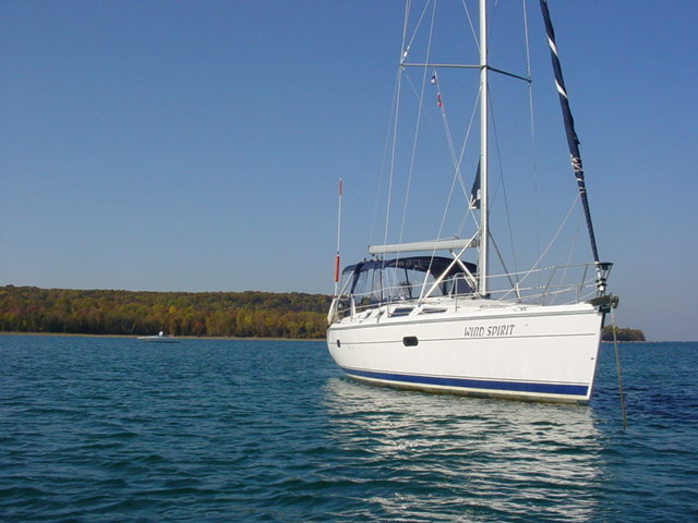 HUNTER 356 WIND SPIRIT AT ANCHOR BOAT #5