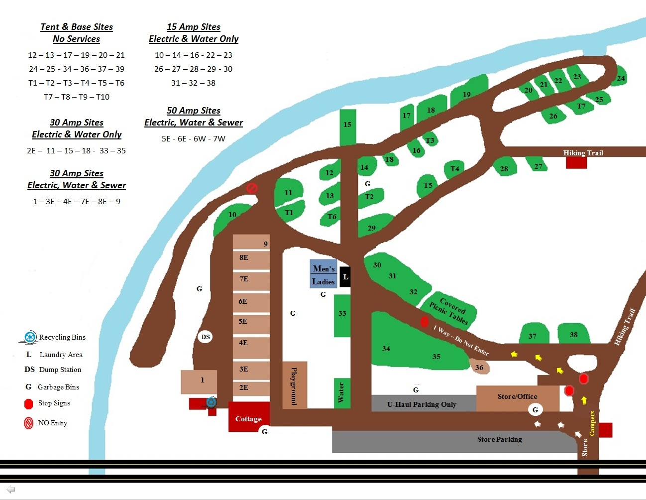 Map of Campground Click to enlarge