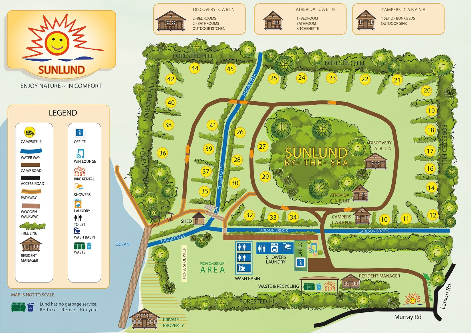 SunLund ByTheSea RV Campground 38 Cabins Map