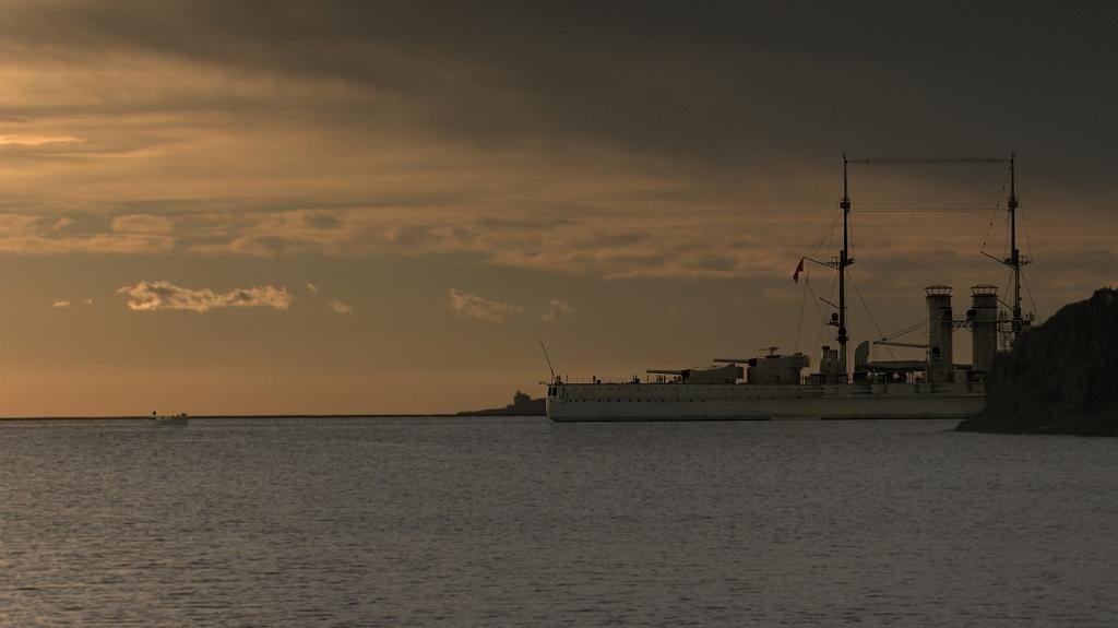 S.M.S. Szent Istvan at anchor