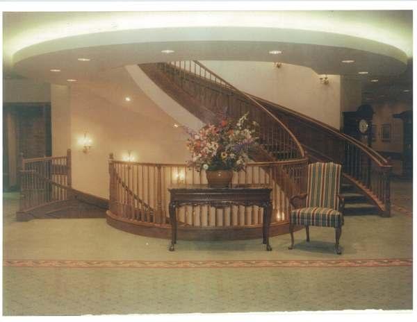 Circular oak stairs