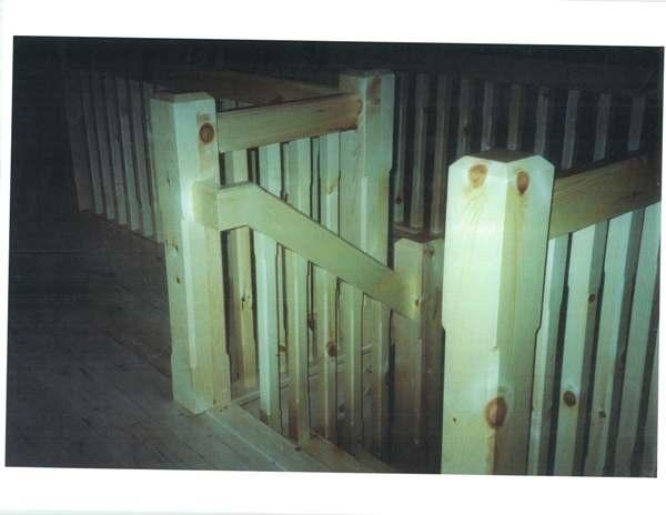 Pine Scandinavian style straight stair