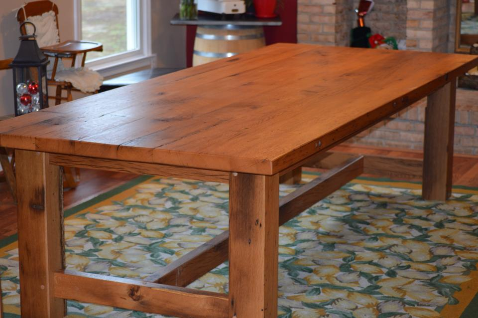 Reclaimed Wood Oak Farm House Table