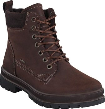 MONTANA 513-49 BROWN MEN'S This modern men's boot from Legero is made of high-quality leather and is equipped with a particularly light, well profiled sole. Thanks to Gore-Tex warm lining, absolute waterproofing and heat insulation while simultaneously being breathable. The insoles can also be removed. The outsole is specially designed to ensure maximum walking comfort. This Legero boot is the ideal companion through the cold season. SKU 16117 REG 295. ALWAYS 249.00