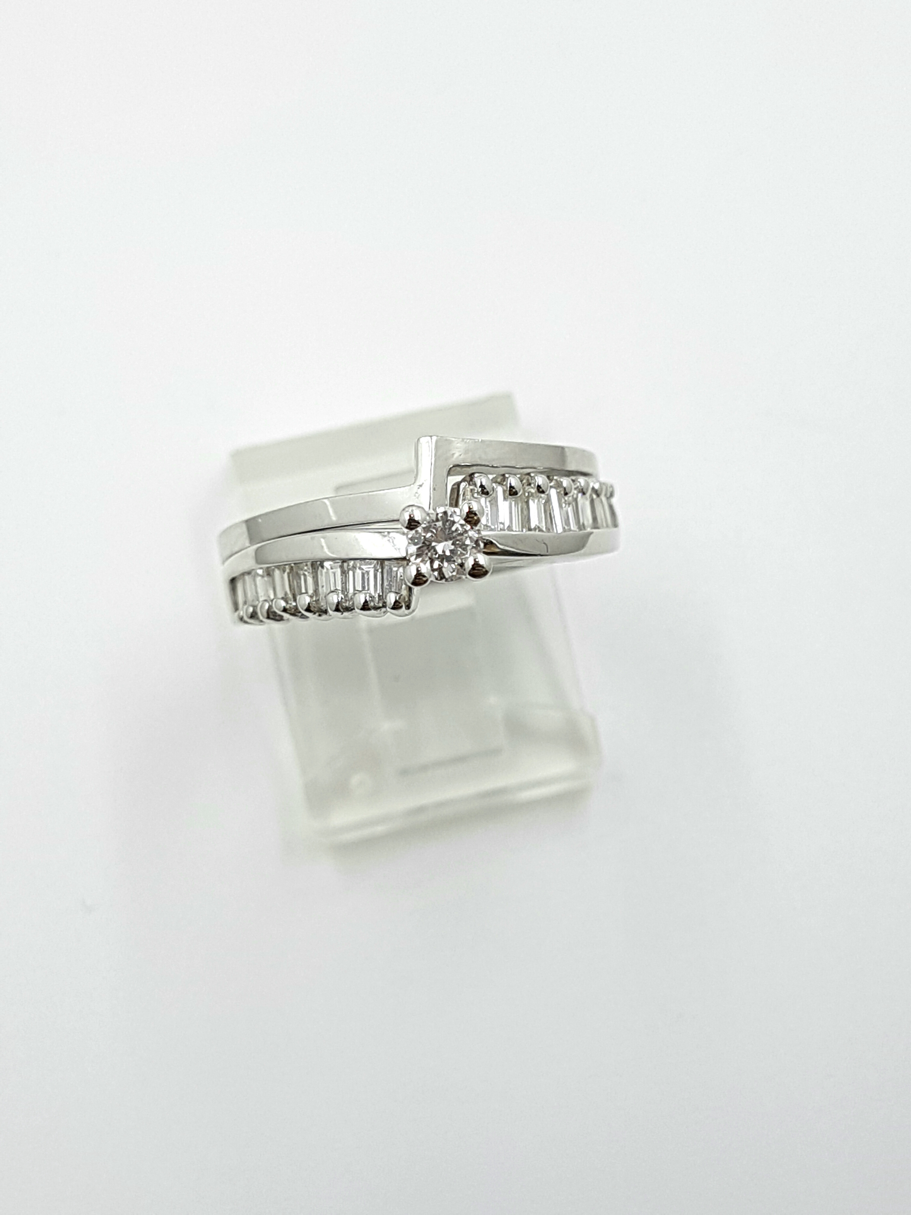 Engagement Ring & Wedding Band 14K White Gold 0.65ct Total Regular Price $4775 SALE $1150 Ref: DER119+W