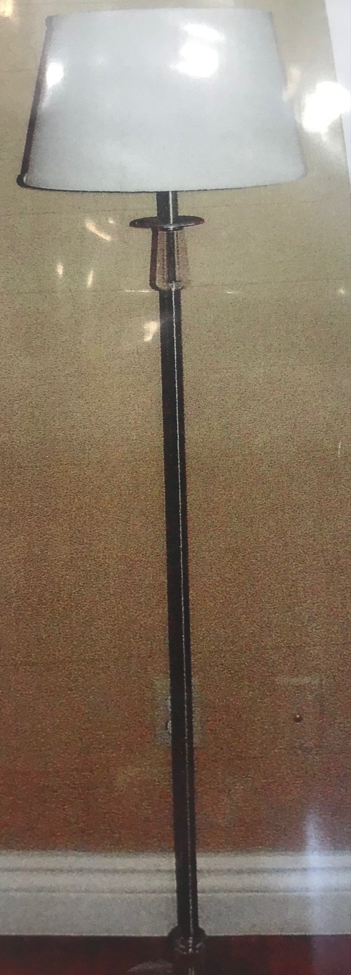 256 Floor Lamp Made in Canada Available in Antique Brass or Brushed Chrome Regular Price $245.99 Sale Price $172.99