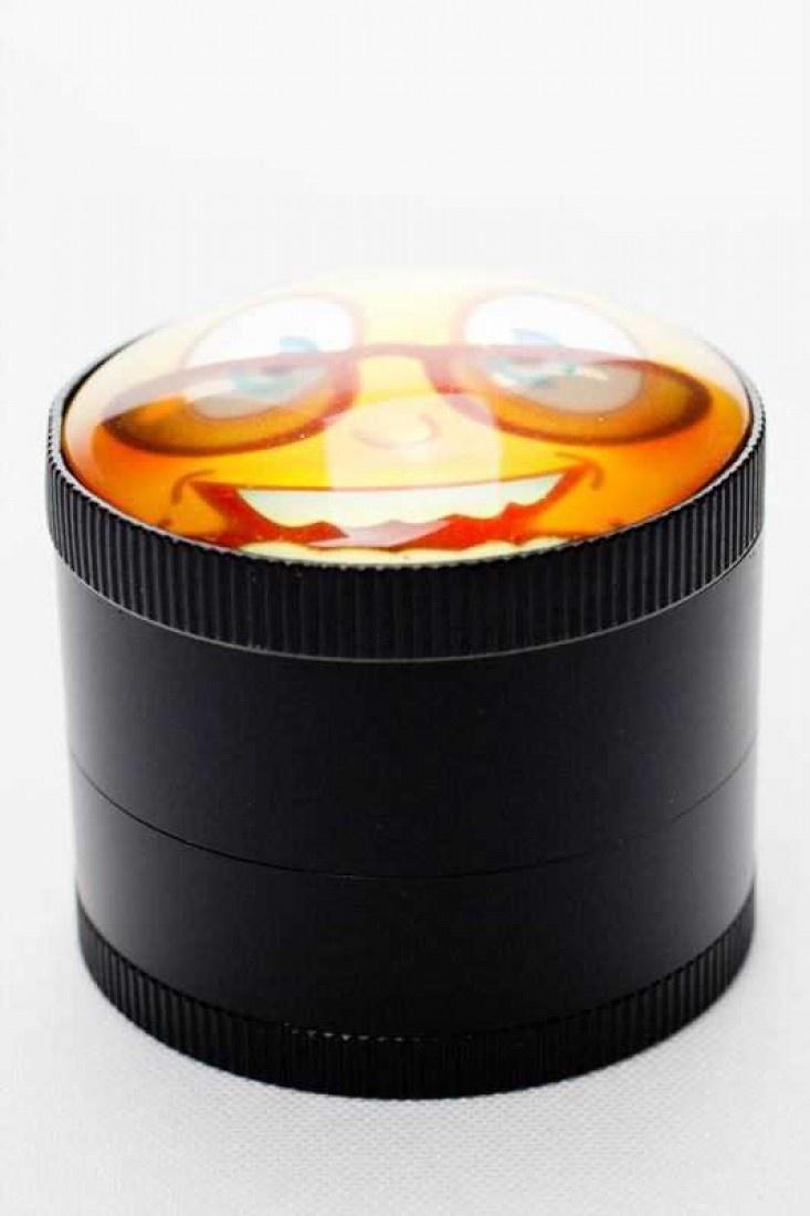 Convex lens emoji 4 parts metal grinder (6 ea per box) SKU:3523 buy one or whole box