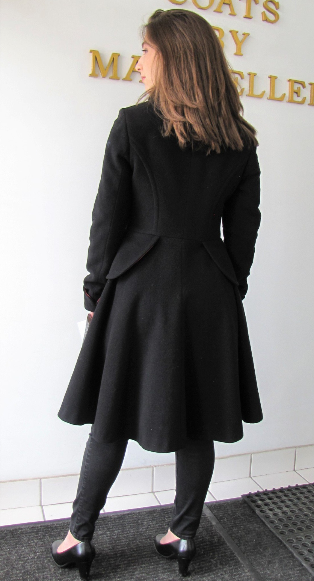 Style # 1892-17 Black   Cashmere Wool  - Back View