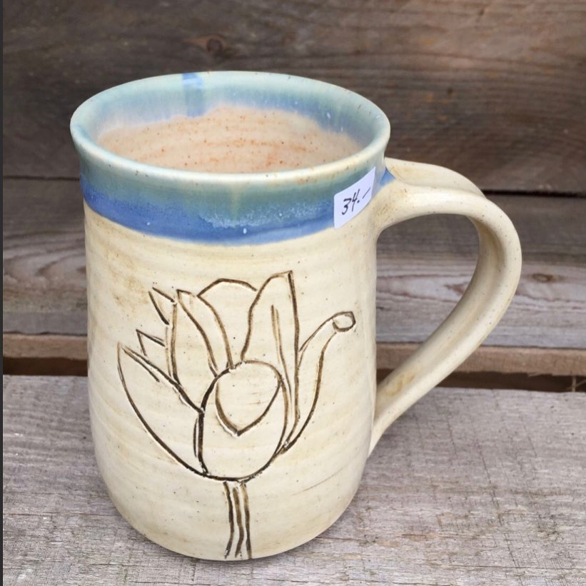 """Tulip Mug 3"""" x 4.25"""" $34"""