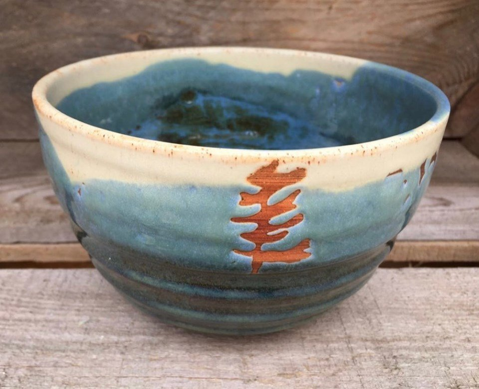 """Tree bowl  6.5"""" x 4""""   $55  ."""