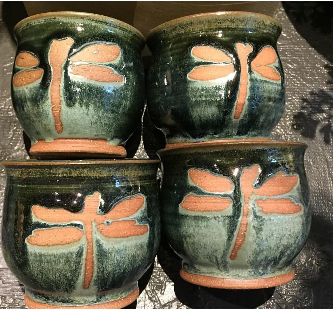 "Dragonfly Wine Cup 3.25"" x 2.75"" $22"