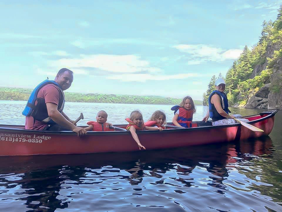 Canoes, kayaks, pedal boat
