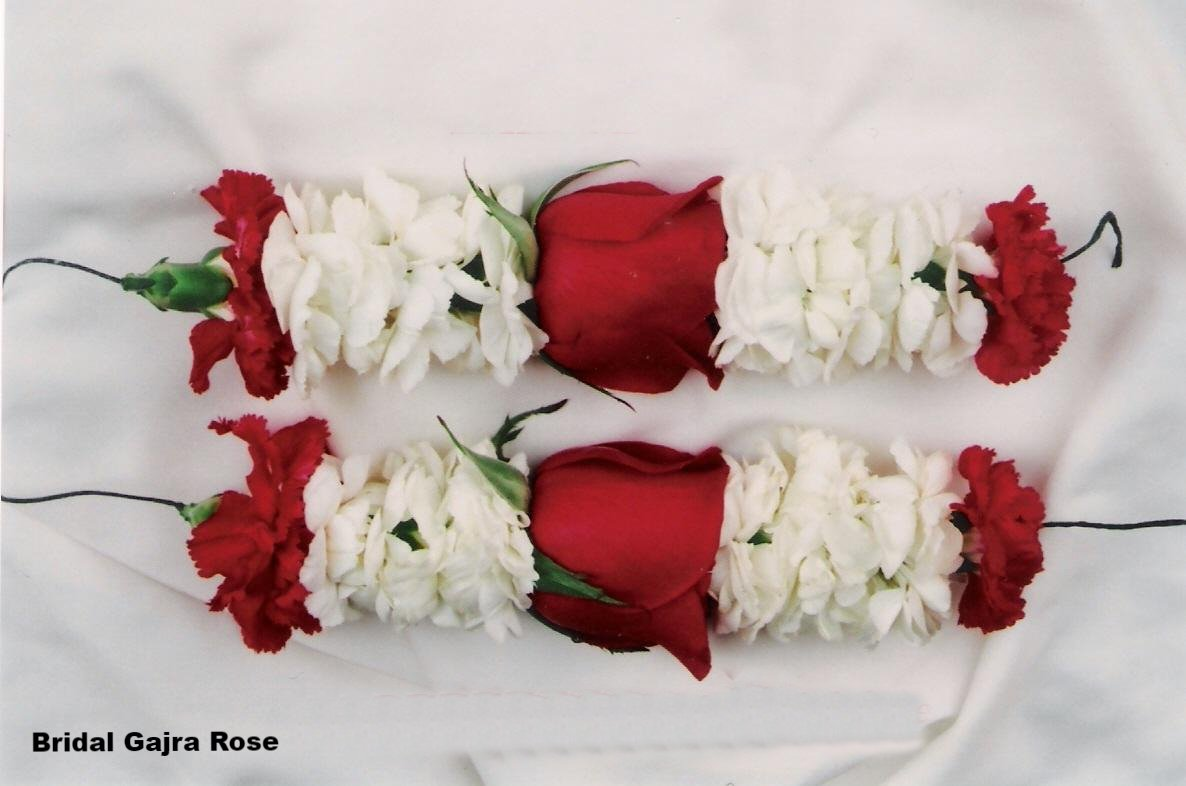Bridal Gajra with Rose