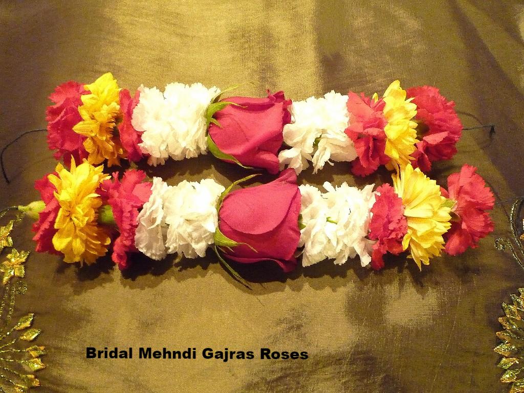 Bridal Mehdi Gajras /Roses