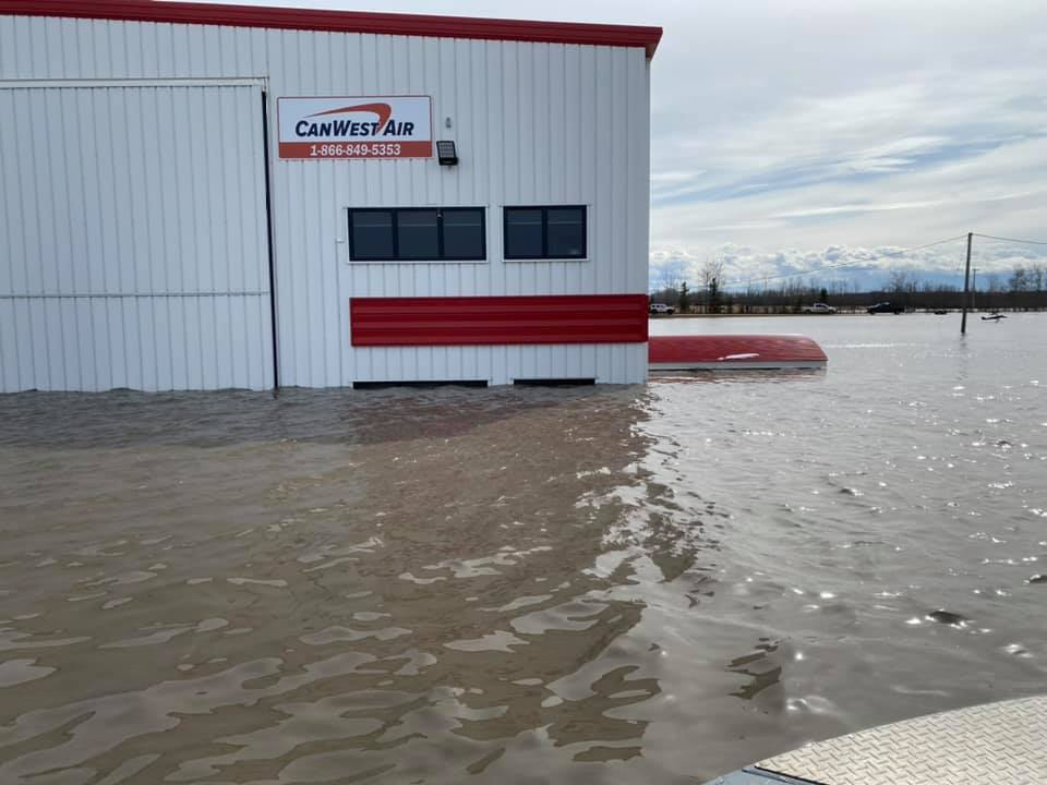 Canwest Terminal at Wop May Memorial Airport flooded in 2020