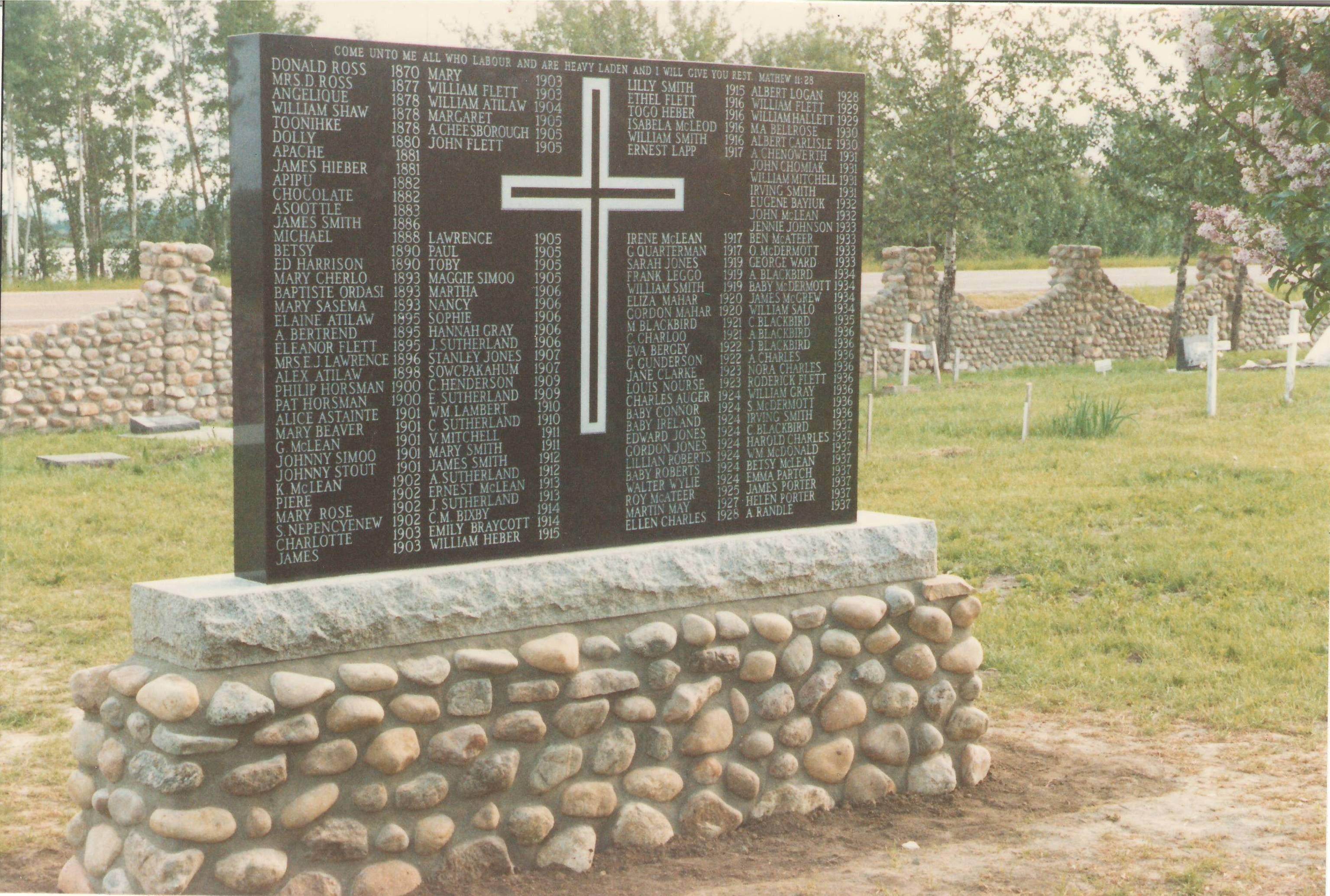 Monument in the St. lukes Cemetry. Photo Credit: Marilee Cranna Toews