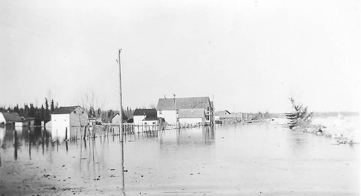 River Road flooded in 1934 998.05.23.46 / Lamberton, Rev Hugh and Lillian