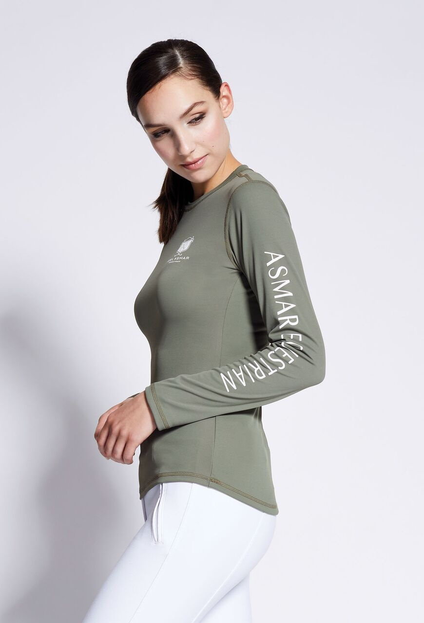 Long Sleeve Logo Tee Olive $78