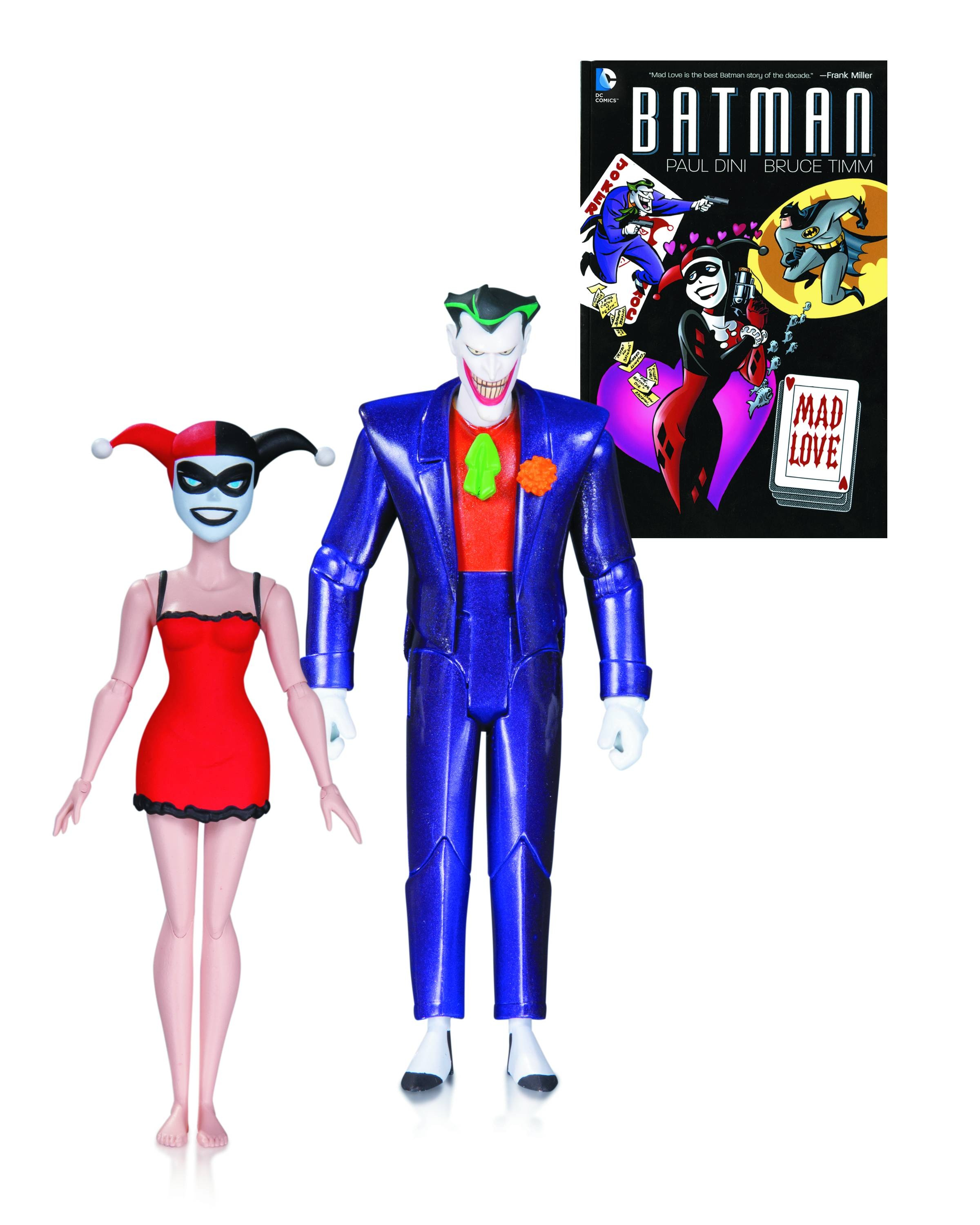 BATMAN ANIMATED MAD LOVE JOKER & HARLEY QUINN 2 PK AF
