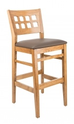 Checker Barstool, upholstered