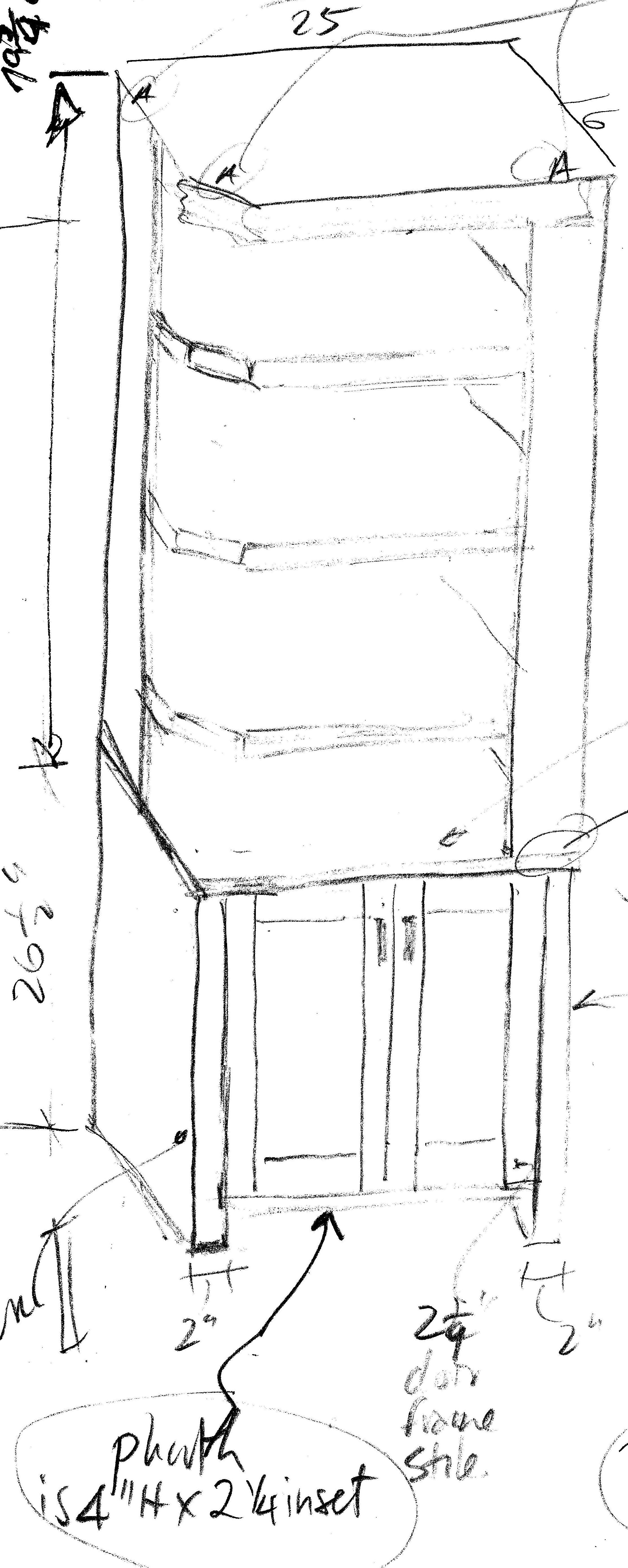 Built-in towel cabinet