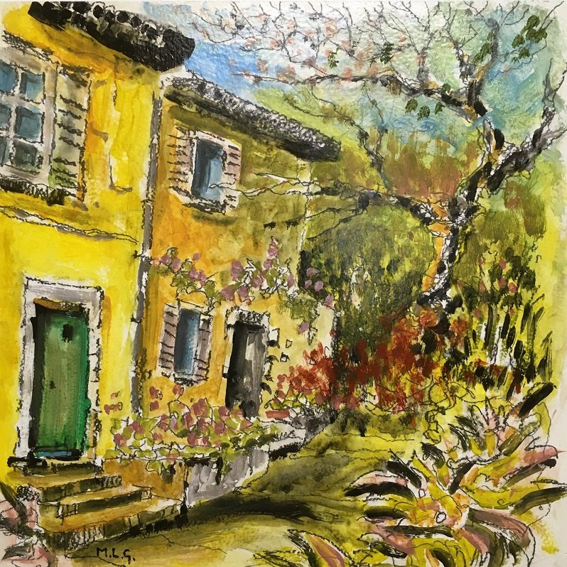 Homes in Villeneuve-Les-Avignon Acrylic