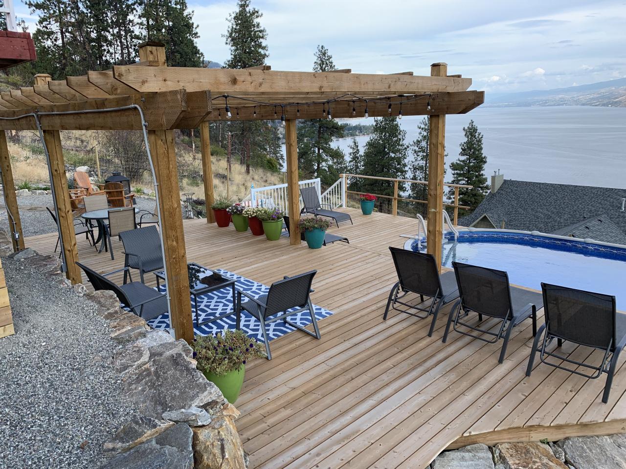 Deck & Pergola overlooking pool