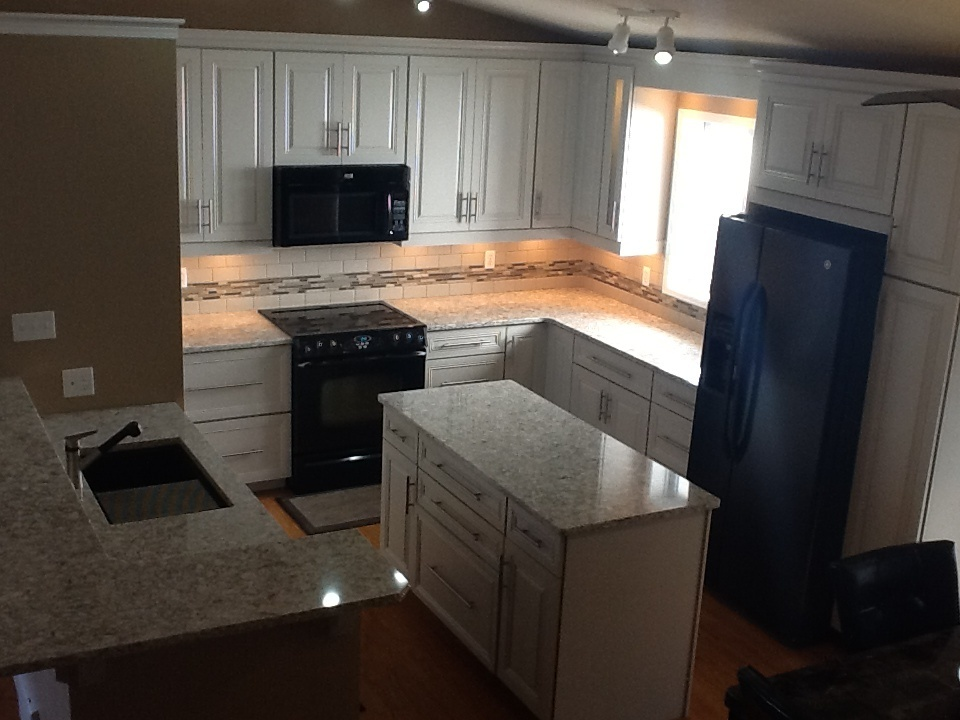 Kitchen remodel; overhead view