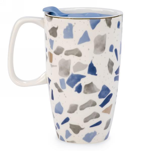 """Ceramic Blue Travel Mug 4"""" x 6"""" $12.99"""