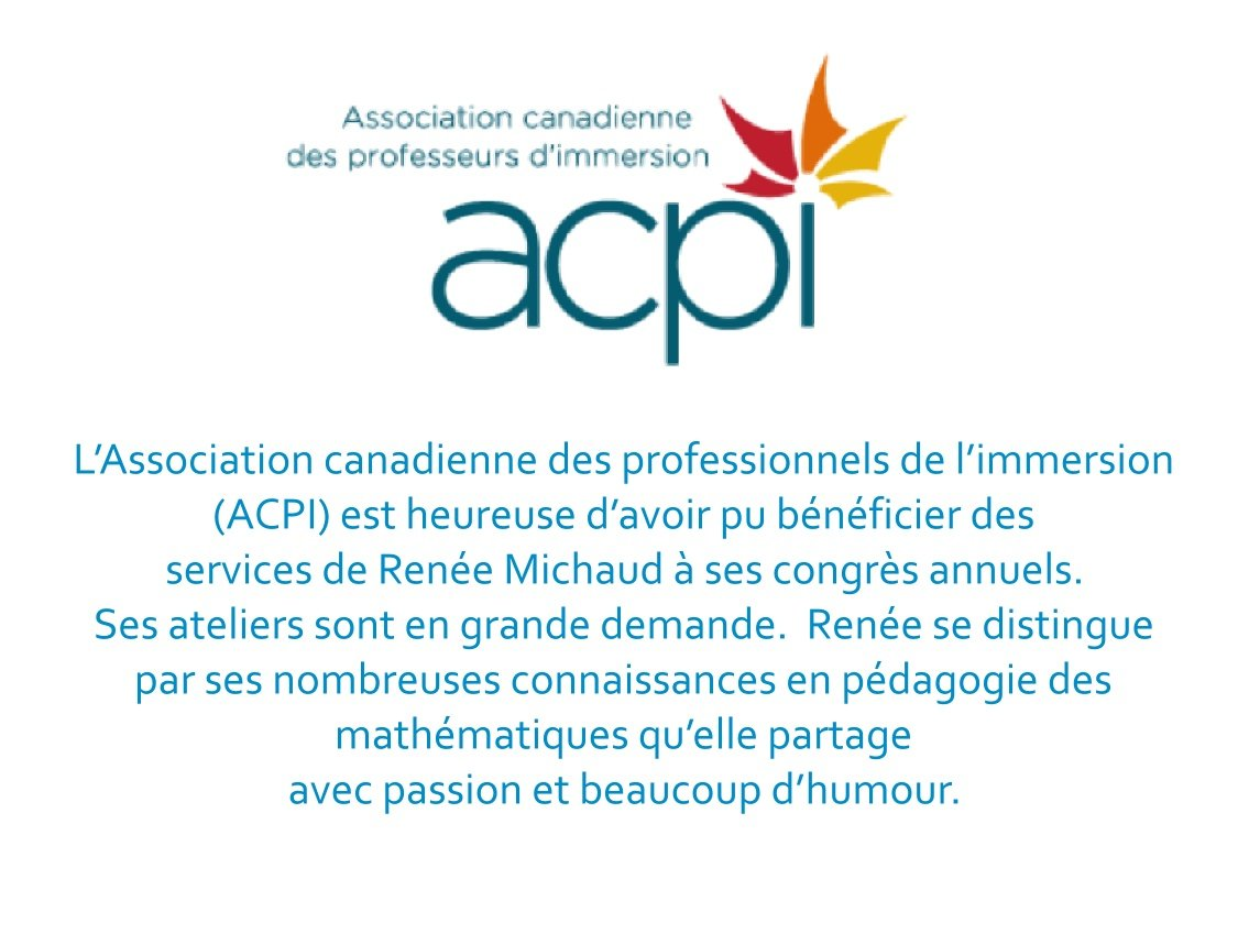 Lesley Lockhart-Doell Présidente sortante Association des professionnels de l'immersion (ACPI/CAIT)