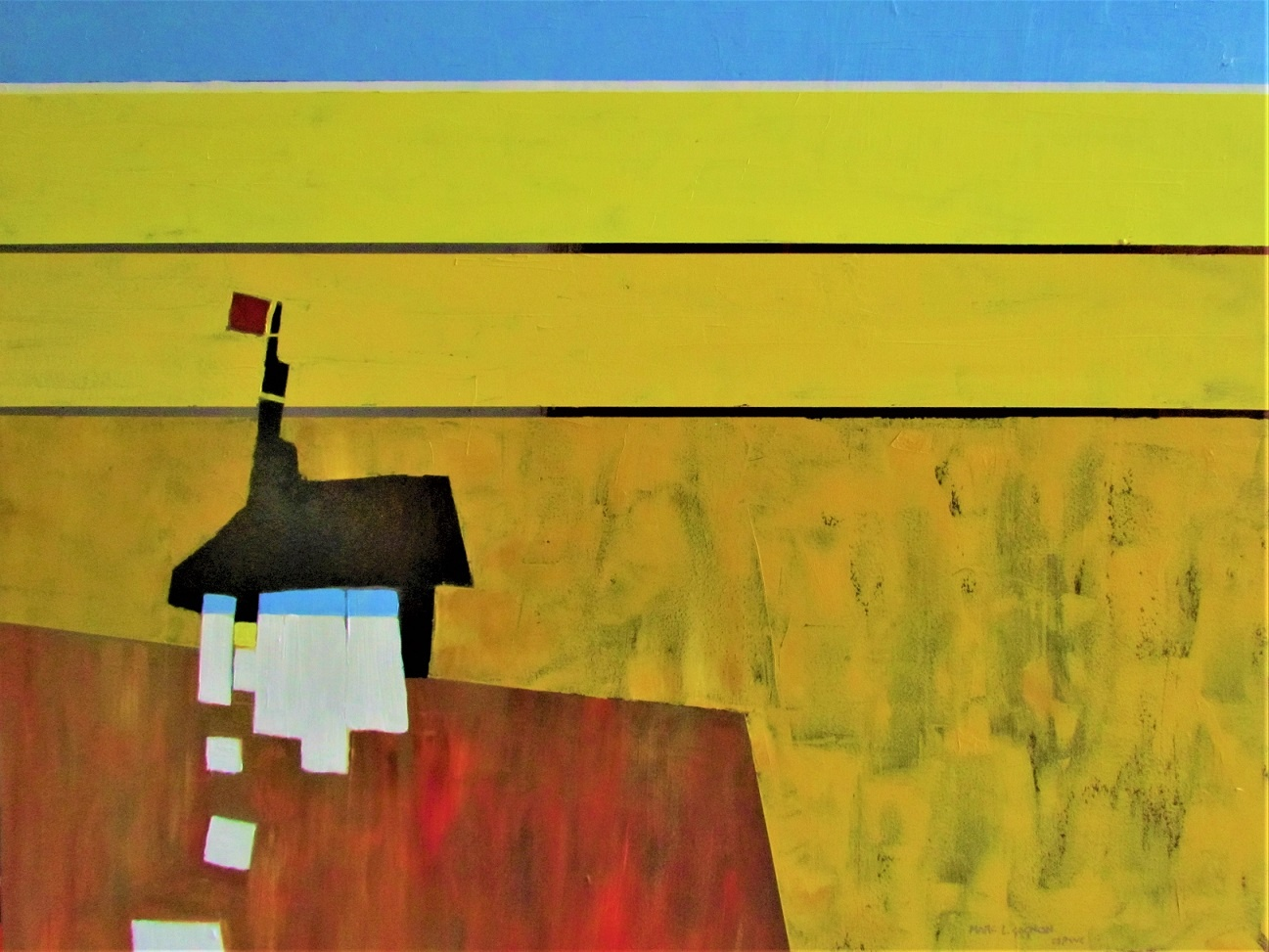 """Outpost 24"""" x 30"""" acrylic"""