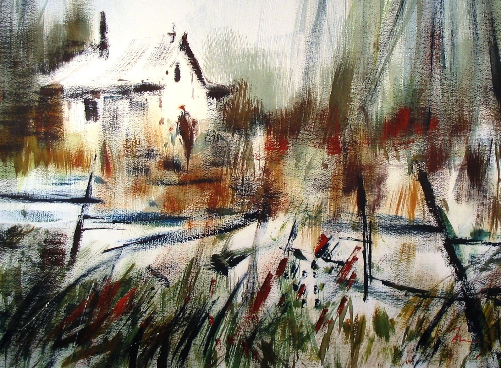 """Shanty 22"""" x 30"""" watercolour  private collection"""