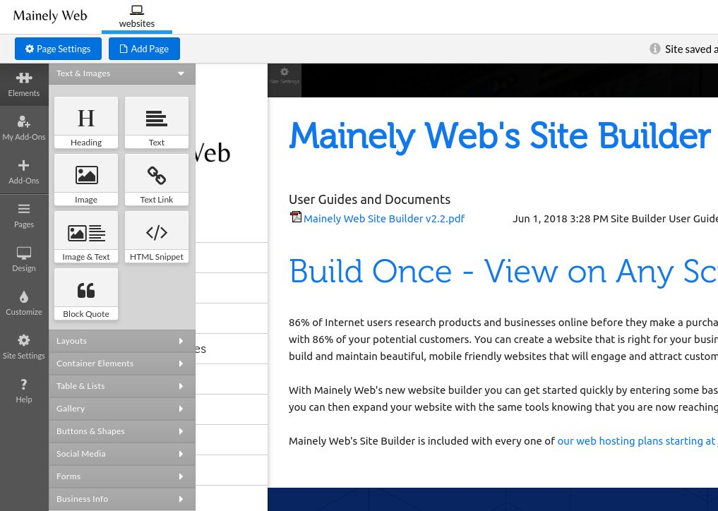 Mainely Web Site Builder