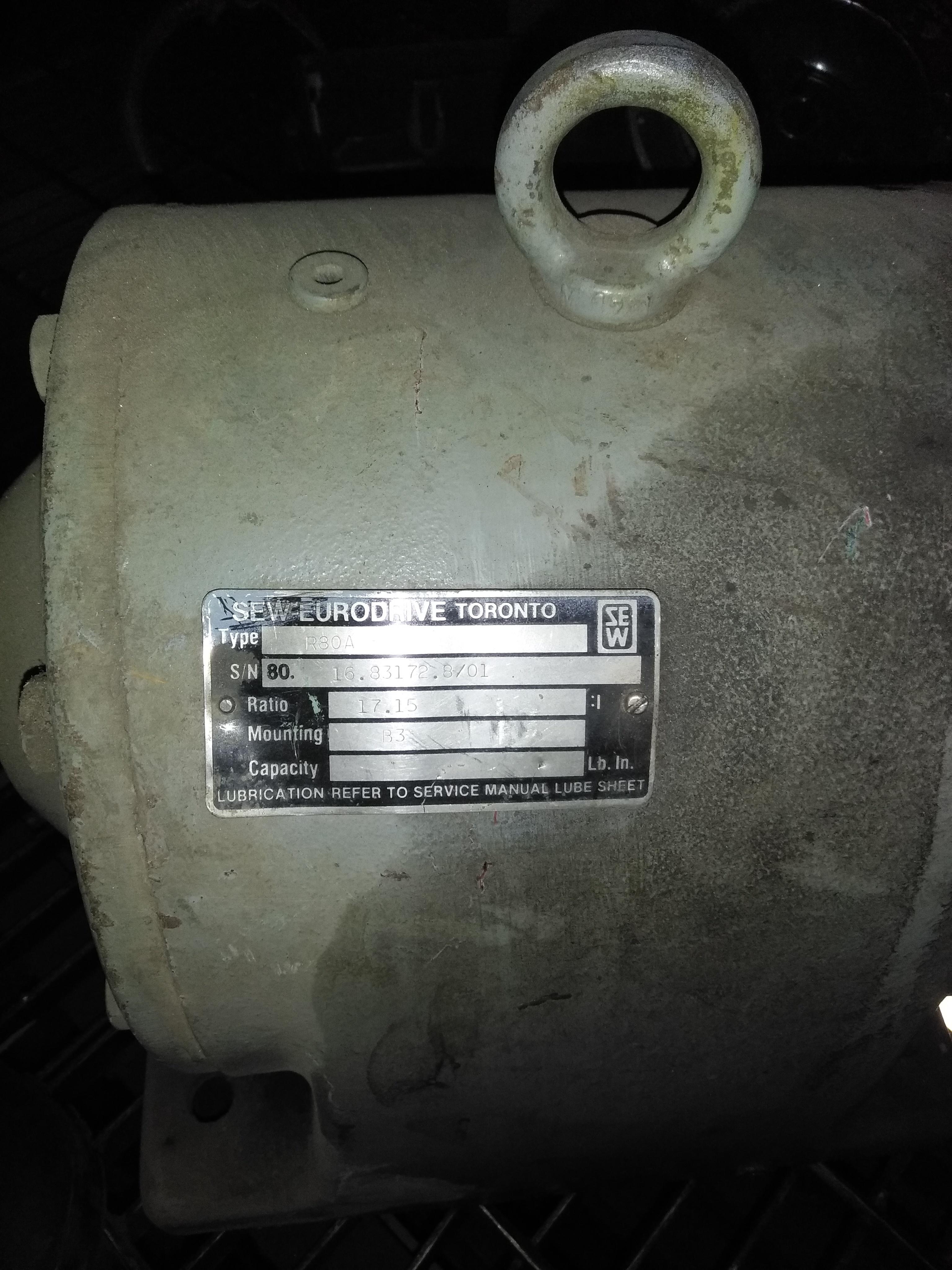 Sew Eurodrive - Electric Motor Type : R70A Quantity: 3  Price: $1500