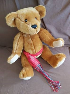 Sue - I was supposed to make my sister a voyageur bear.  Well, made a sash and might try to make a better one.