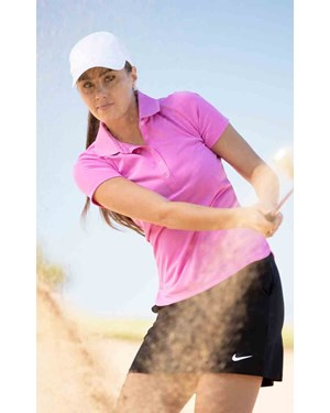 Ladies Sleeveless Mock Golf Shirt