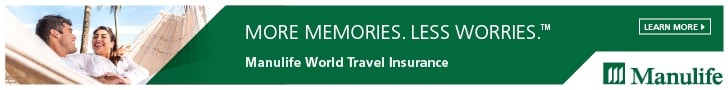 Click on the link to get information and apply for ManuLife World Travel Insurance