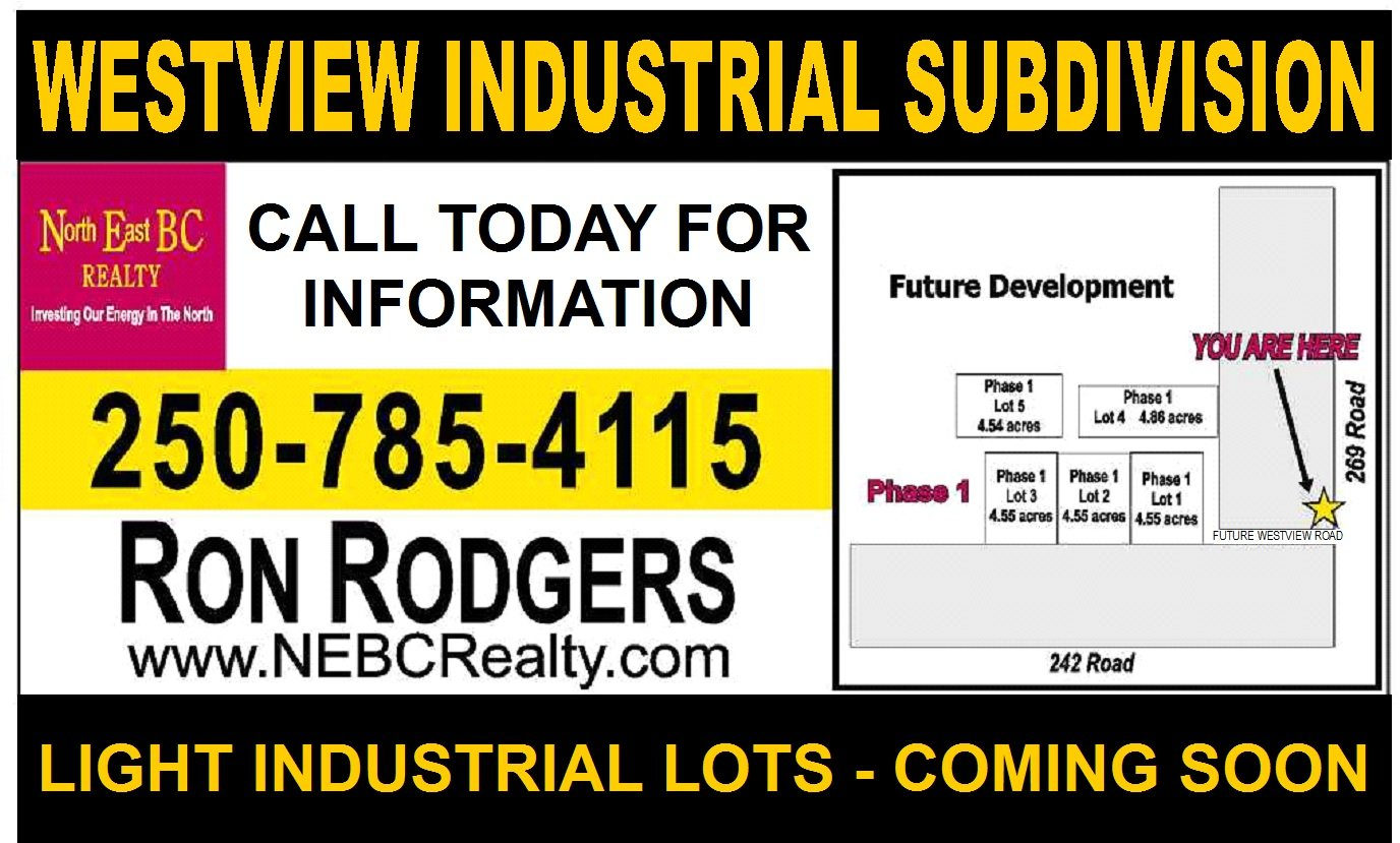LOOK FOR THIS SIGN on the 269 Road in Grandhaven area for Light Industrial Subdivision coming soon!