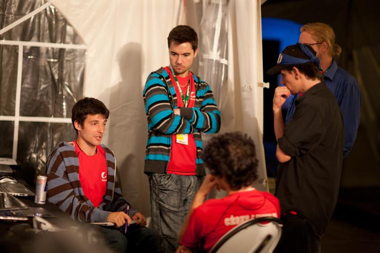 Les participants au  début de la  compétition.  4 août 2011 X2902