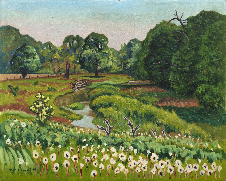 Artist: Clark McDougall, Kettle Creek Valley, North Yarmouth, 1958, Oil on panel