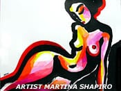 abstract nude reclining original painting