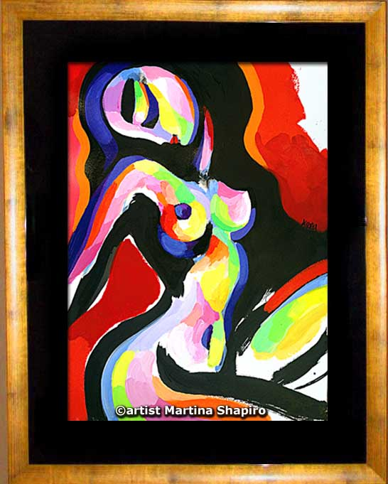 framed painting by artist Martina Shapiro