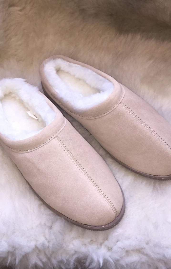 Unisex Klog-Genuine Sheepskin, Rubber Sole- $64.00