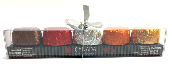 C5AST Canada Coast to Coast Chocolate assortment (5 flavours) 62 gr