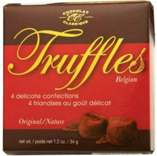 CC34 Chocolat Classique truffles - Red box 34 gr