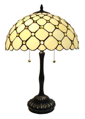 "T1605  Description : Tiffany Table Lamp Size: W16""X24H"" Bulb: 2X75W"