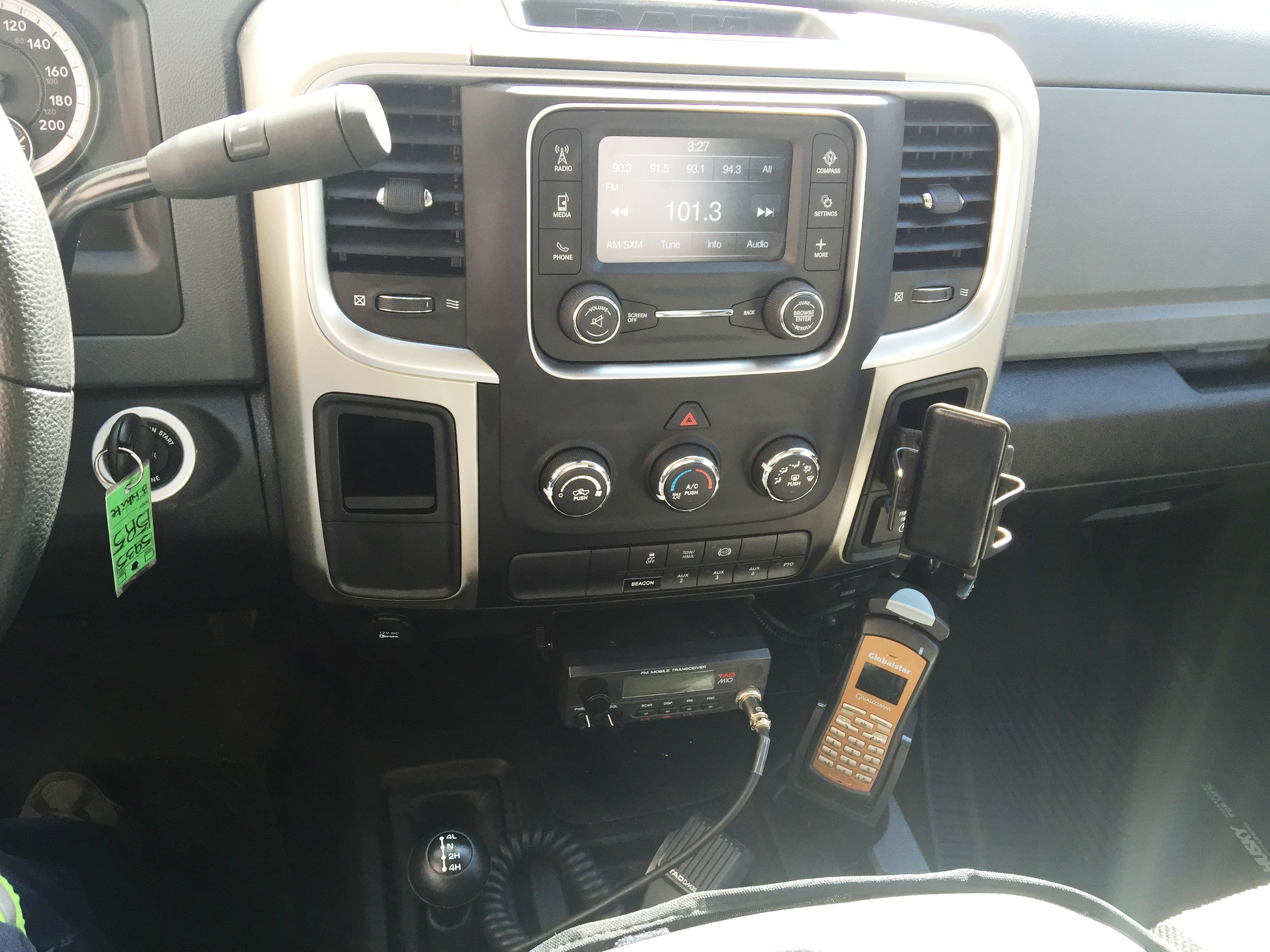 Installation of a TAD M10 and Globalstar into a 2016 Dodge Ram.