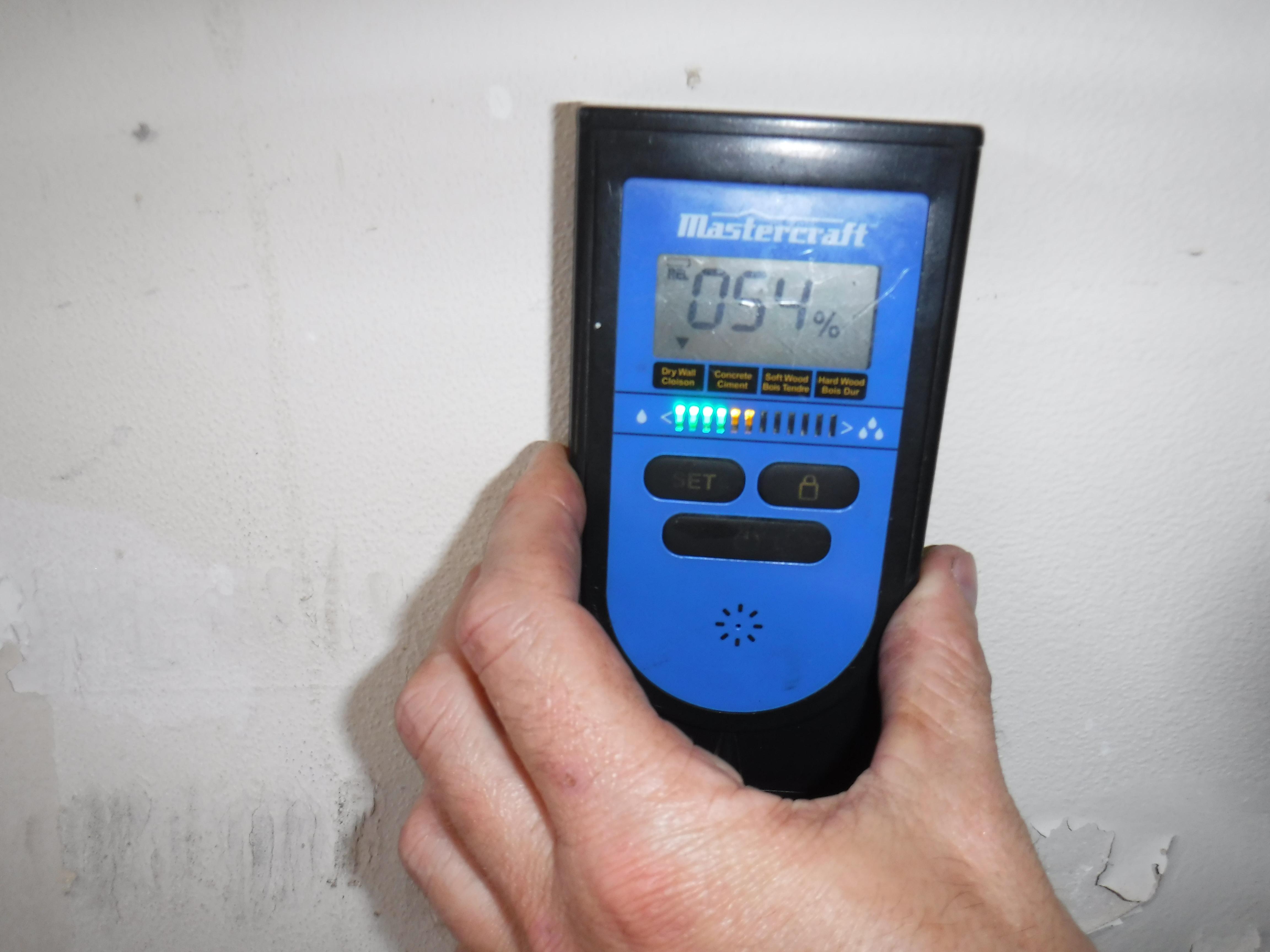 Moisture Meter Reading