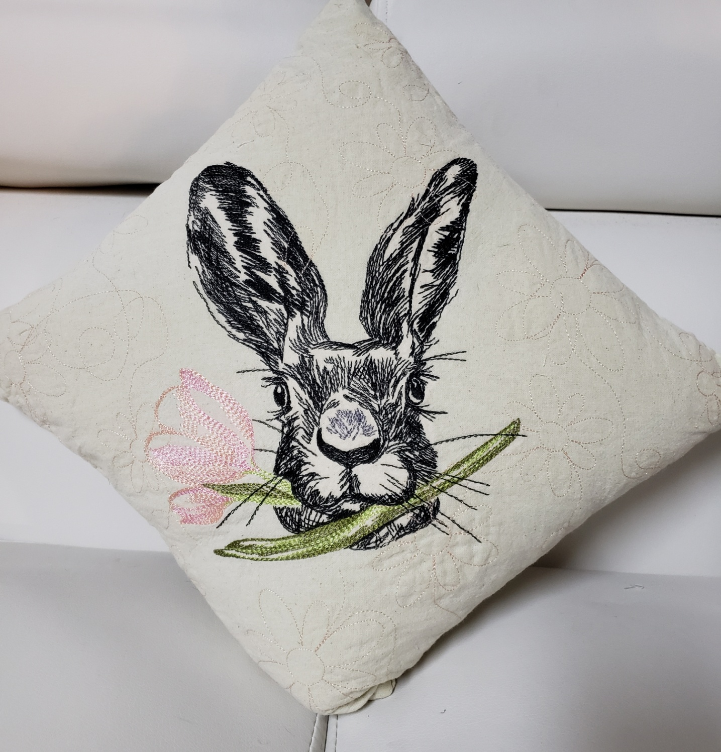 Boy Bunny 16 x 16 chshion